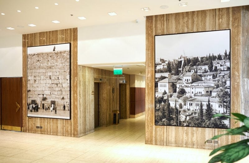 hotel photographs installation