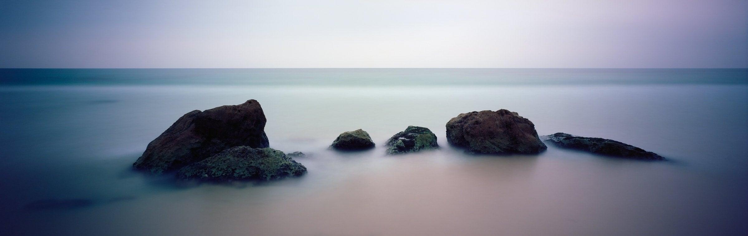 Mediterranean sea rocks abstract