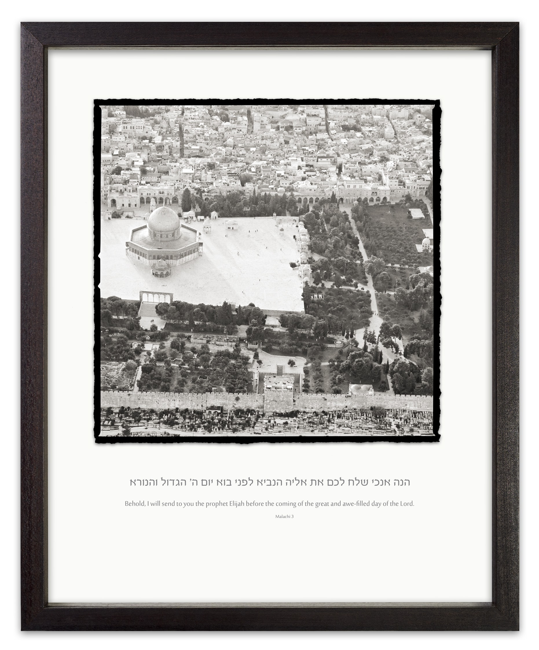 temple mount black and white